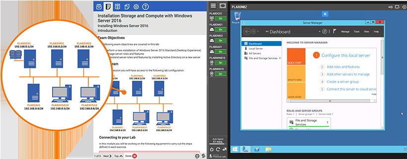 Microsoft lab screenshot