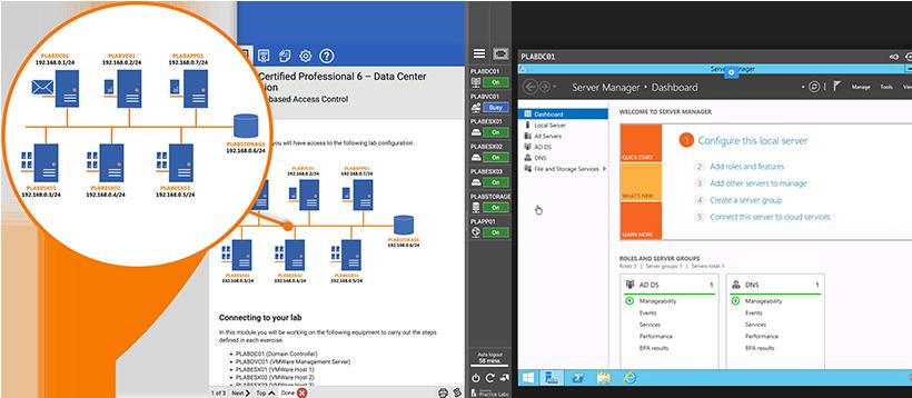 VMware lab screenshot